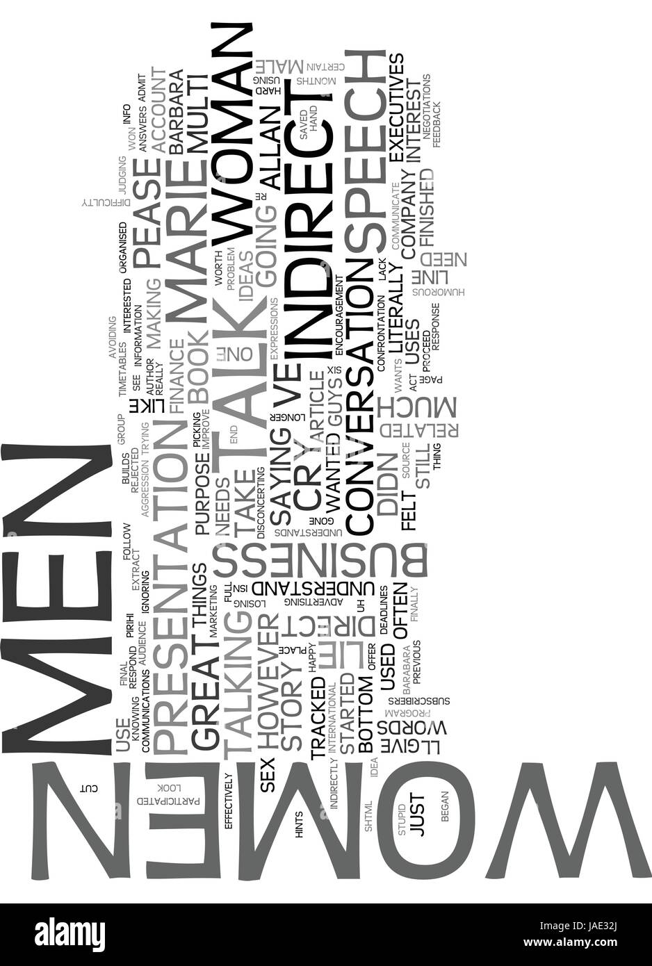 WHY MEN LIE AND WOMEN CRY TEXT WORD CLOUD CONCEPT Stock Vector Art