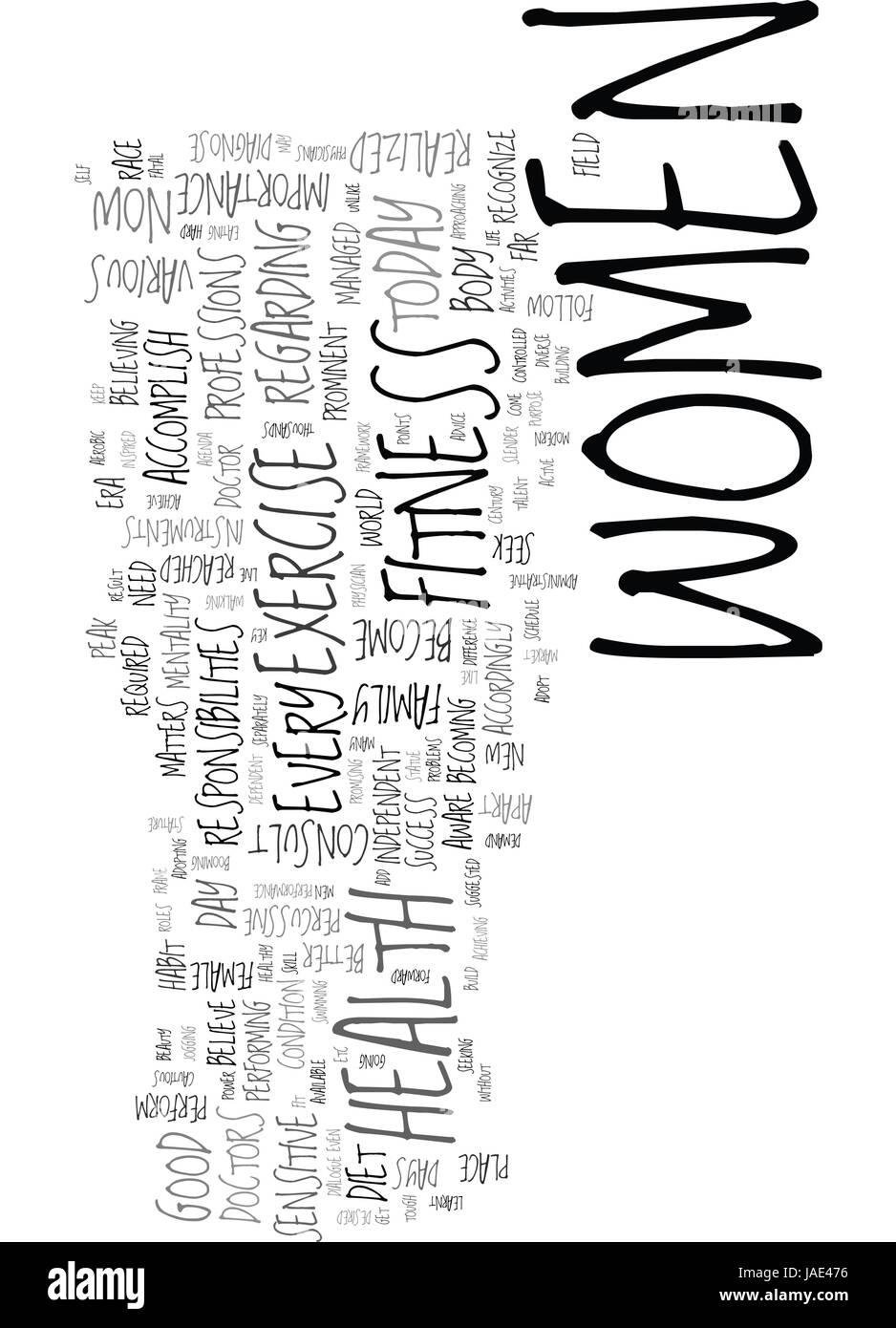 WOMEN OF MODERN ERA TEXT WORD CLOUD CONCEPT - Stock Image