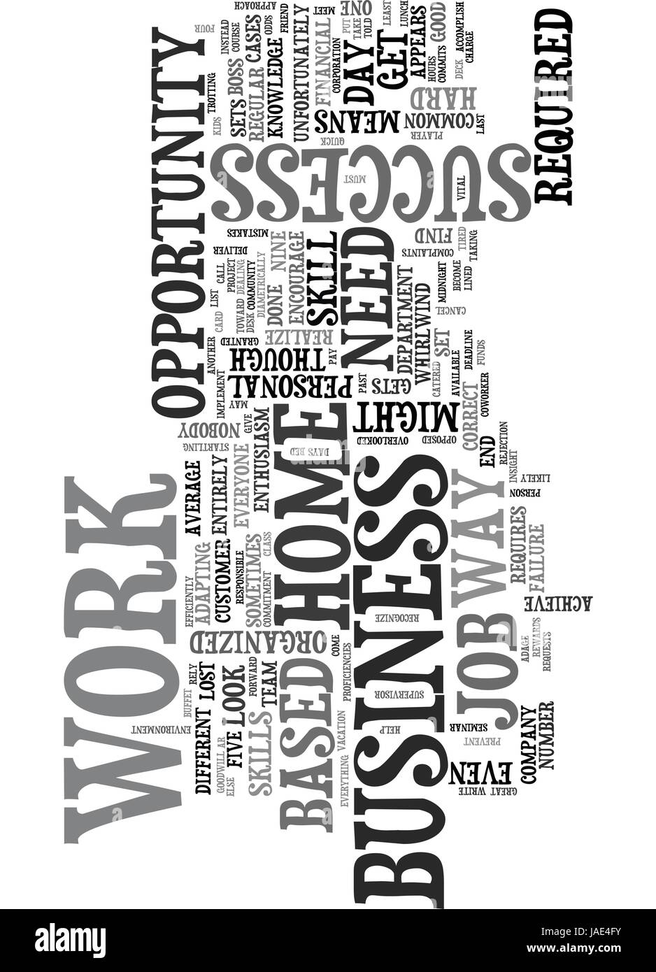 Work At A Home Based Business Opportunity Skill Set Text Word Cloud