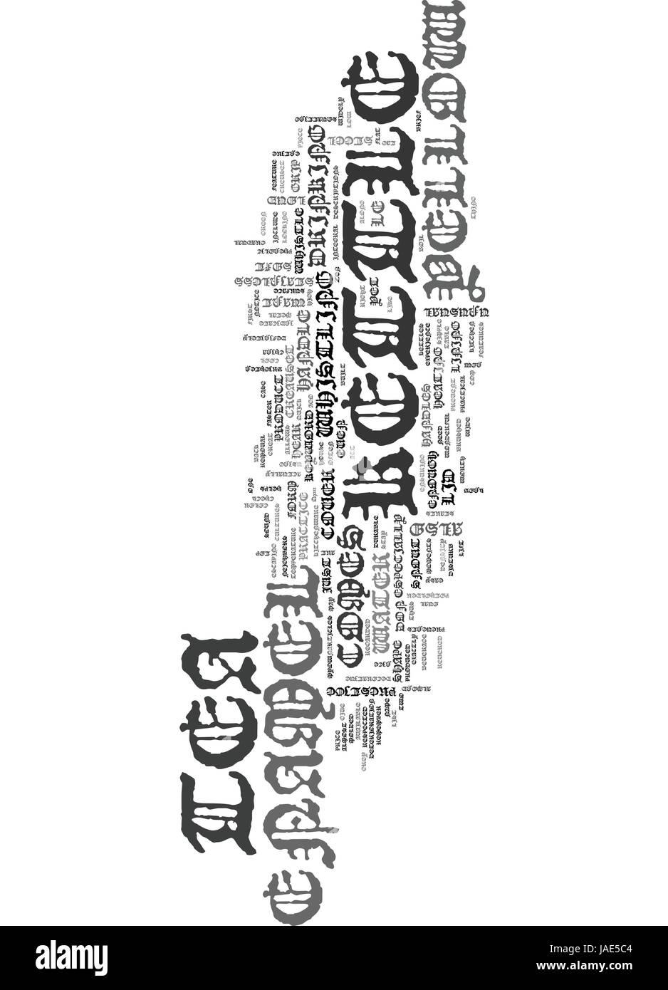 YELLOW ENAMEL TEA KETTLE TEXT WORD CLOUD CONCEPT - Stock Image