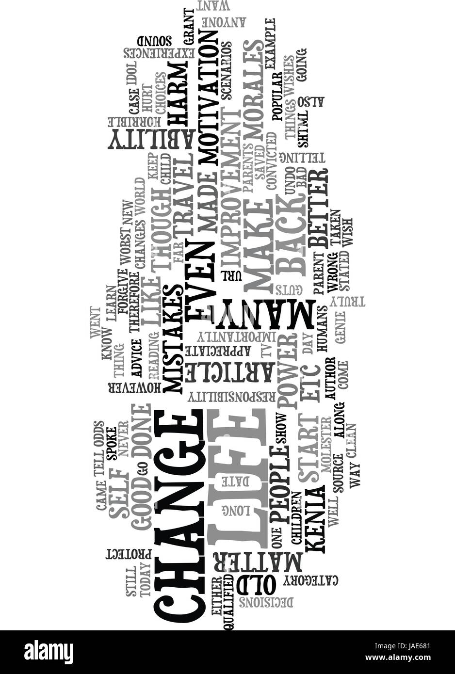 YOU HAVE THE POWER TO CHANGE YOUR LIFE TEXT WORD CLOUD CONCEPT - Stock Vector