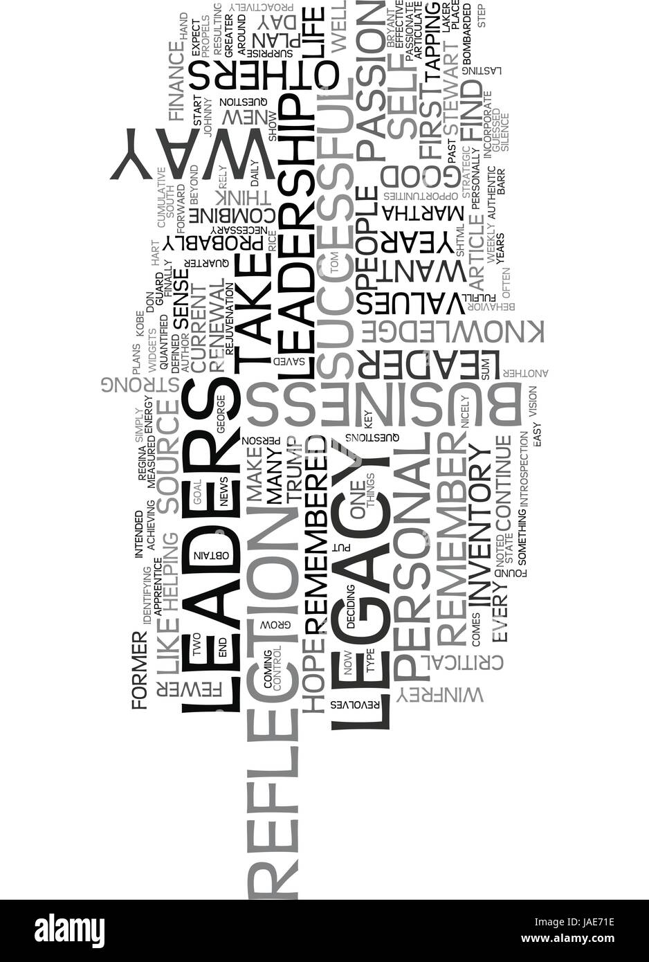 YOUR LEADERSHIP LEGACY TEXT WORD CLOUD CONCEPT - Stock Vector