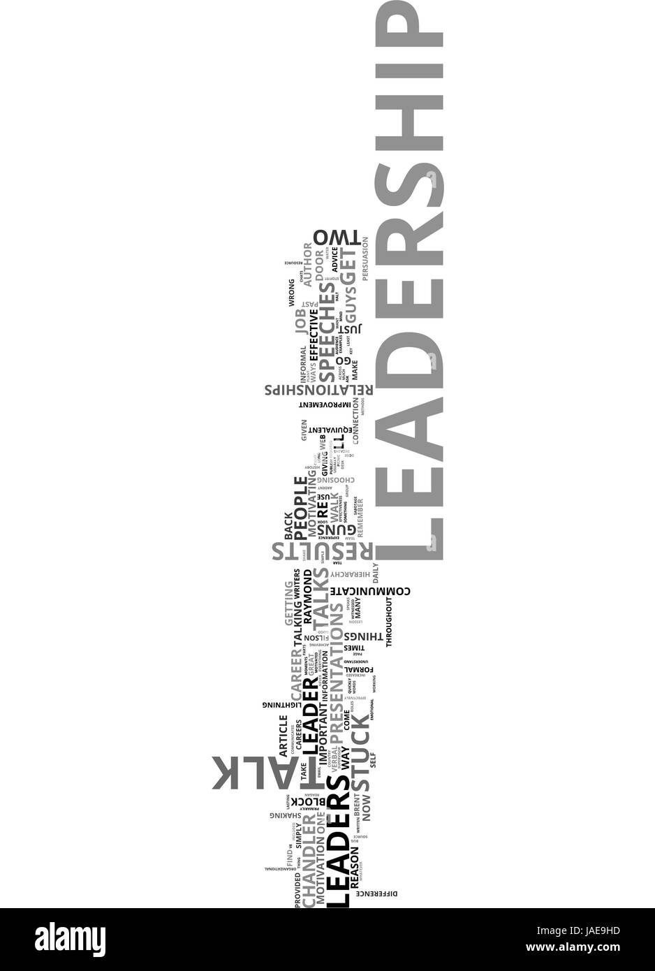A LEADERSHIP LESSON TWO GUYS WITH GUNS TEXT WORD CLOUD CONCEPT - Stock Vector