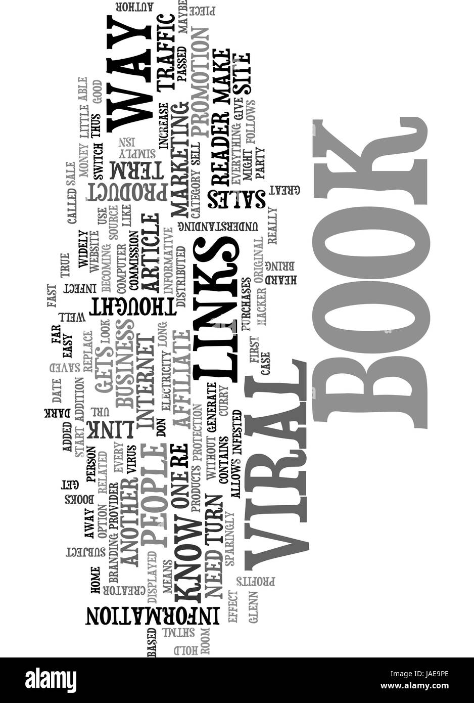 A LOOK AT VIRAL E BOOKS TEXT WORD CLOUD CONCEPT - Stock Vector