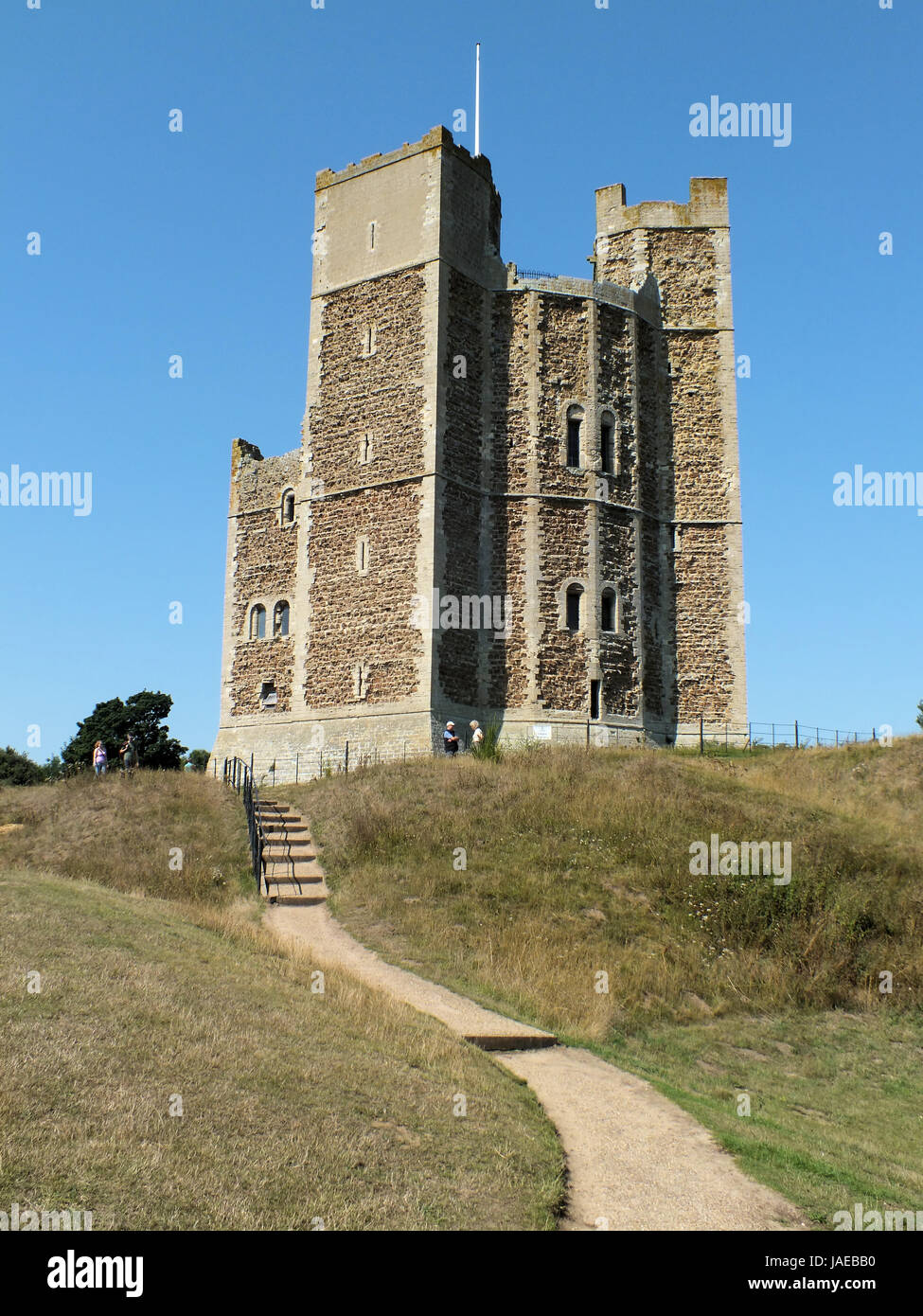 Orford Castle was built between 1165 and 1173 by Henry II of England to consolidate royal power in the region. The - Stock Image
