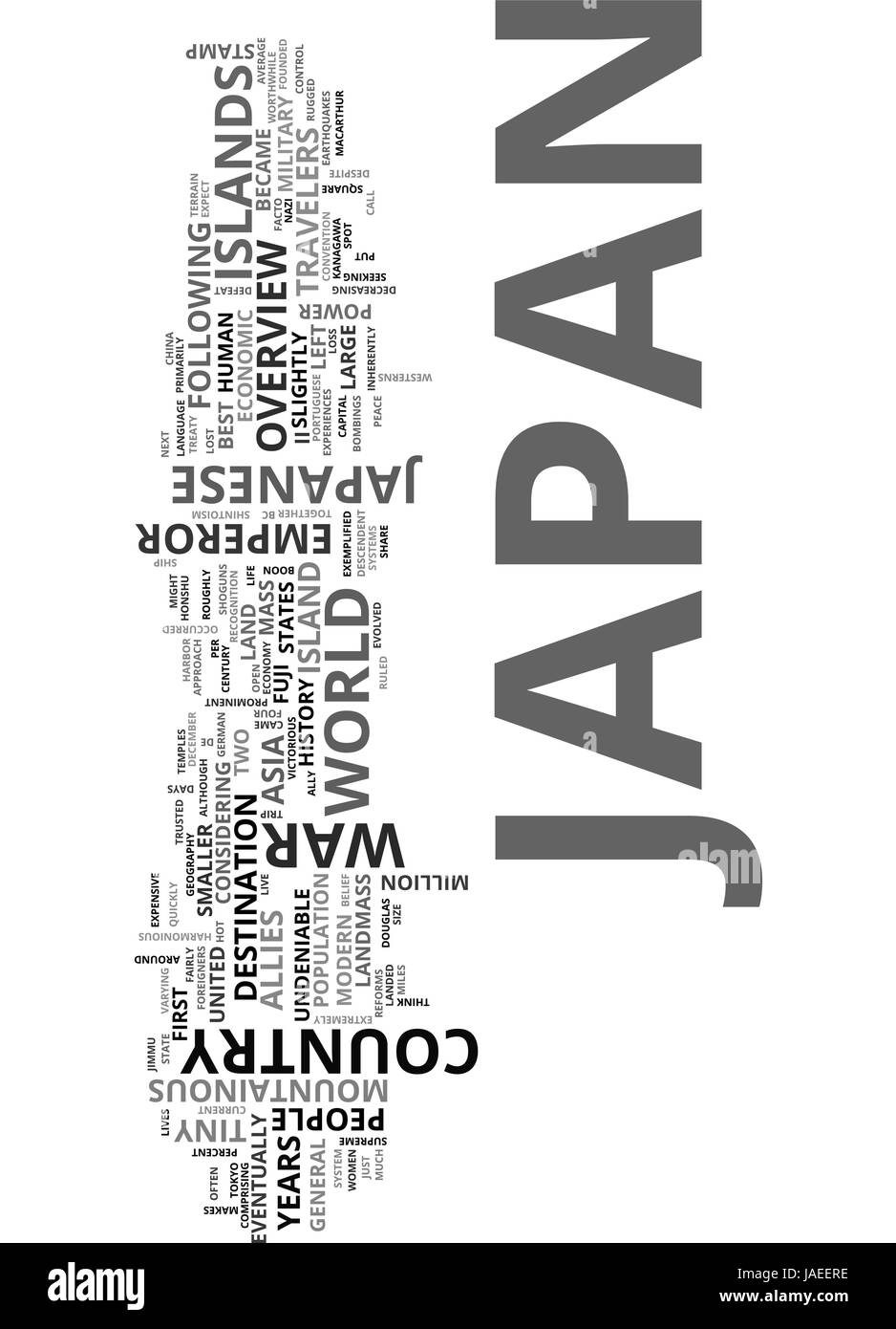 an overview of italy for travelers text word cloud concept stock