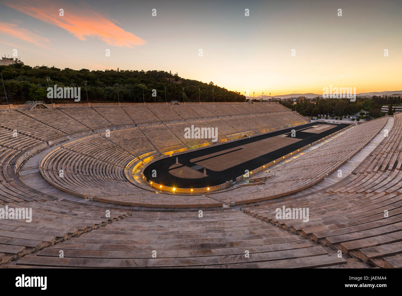 First modern Olympic stadium in city of Athens, Greece. - Stock Image