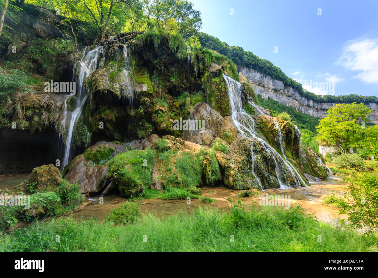 France, Jura, Baume les Messieurs, labelled Les Plus Beaux Villages de France (The Most beautiful Villages of France), - Stock Image