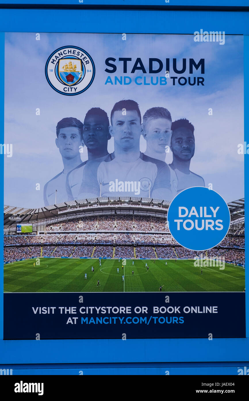 Etihad Stadium home to Manchester City football club, Manchester, England, U.K. Stock Photo