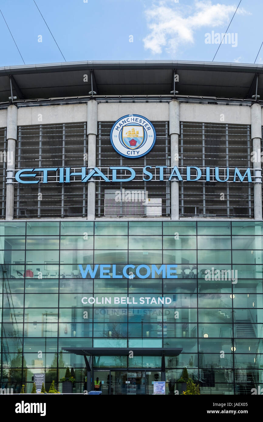 Etihad Stadium home to Manchester City football club, Manchester, England, U.K. - Stock Image