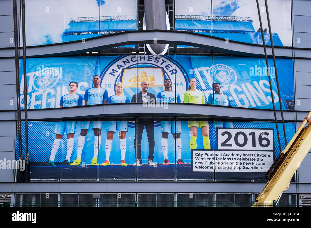 Etihad Stadium home to Manchester City football club, Manchester, England, U.K. - Stock Image