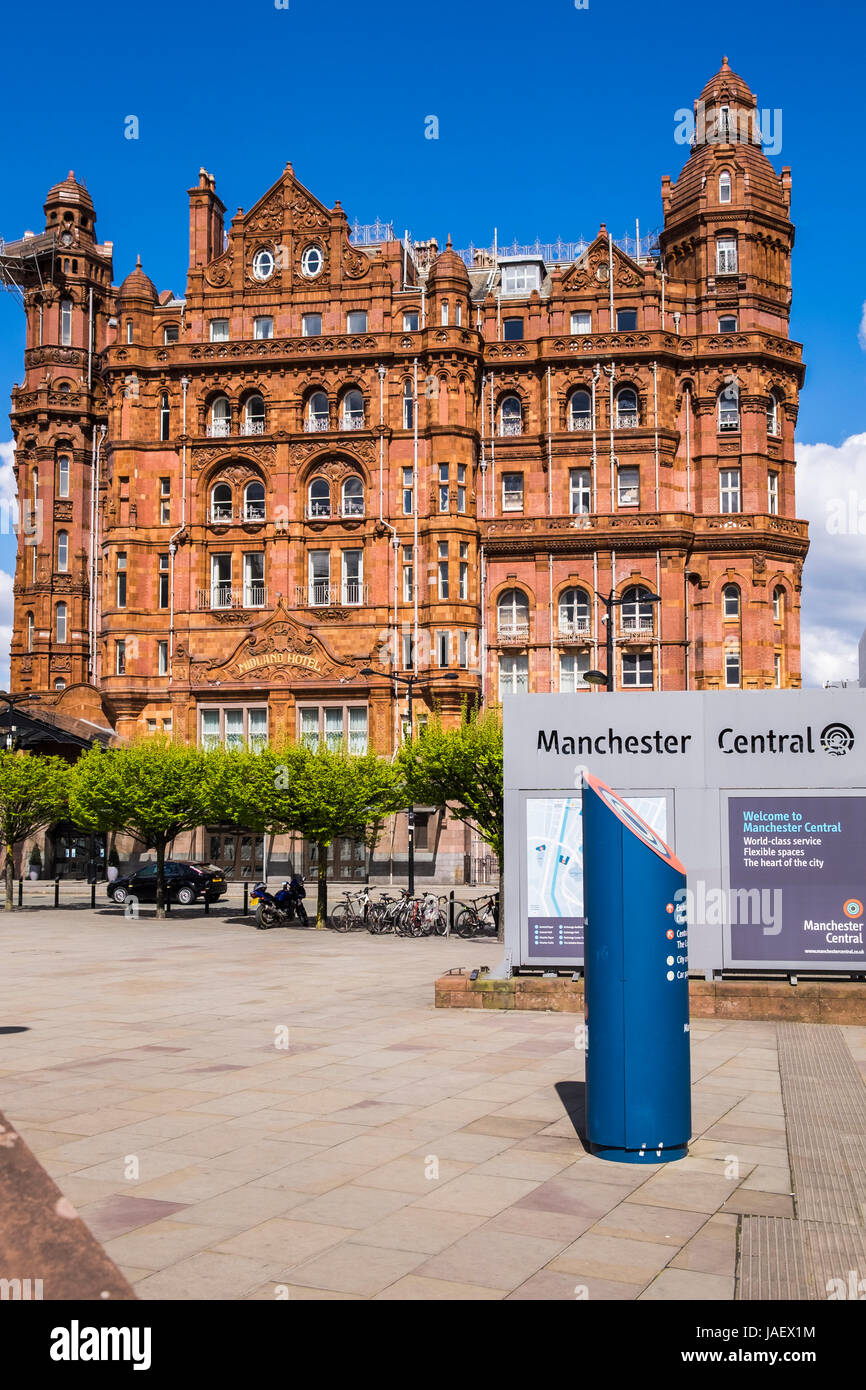 Midland Hotel, Manchester Central, Manchester, England, U.K. - Stock Image