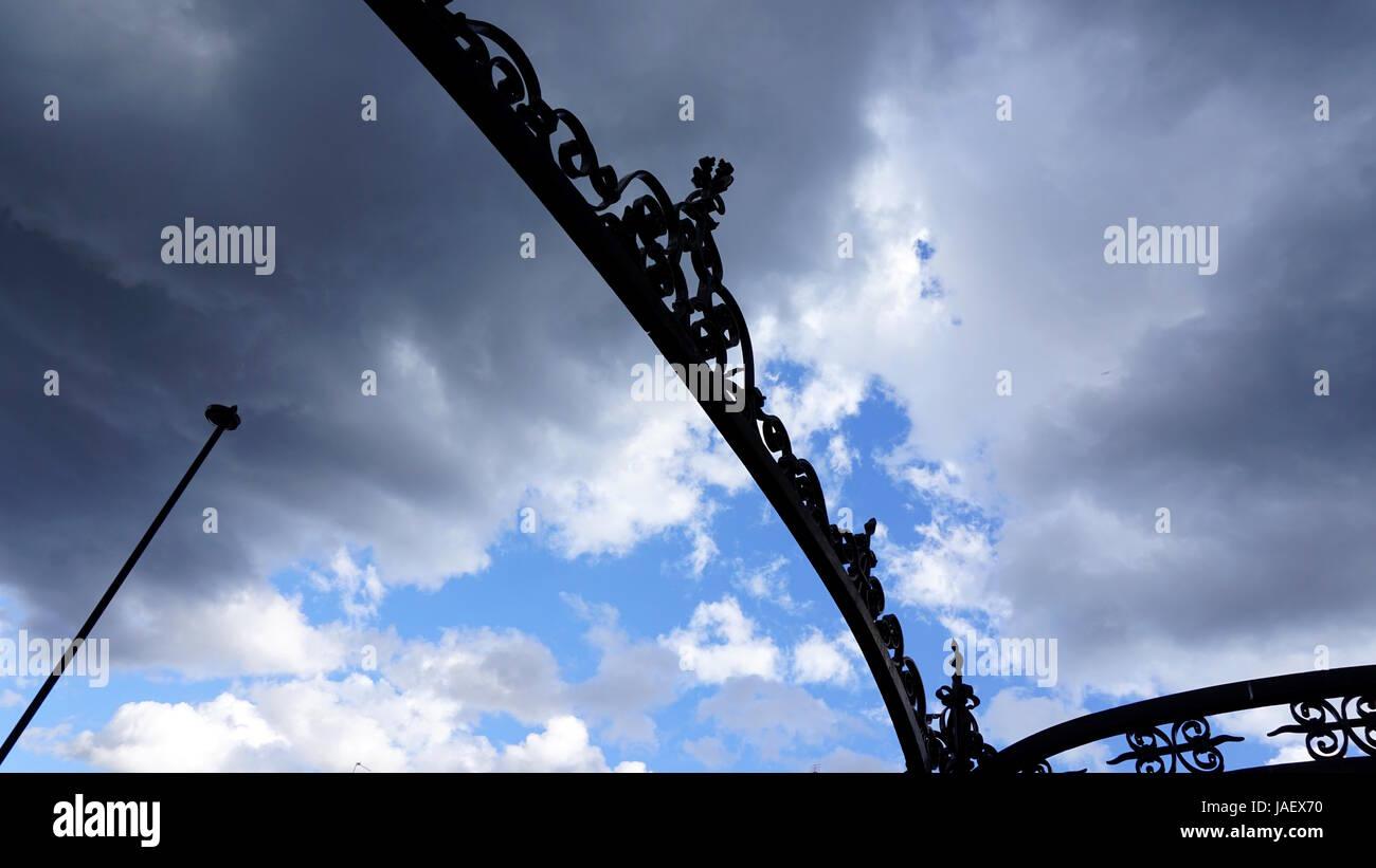 Victorian Park Entrance, London - Stock Image