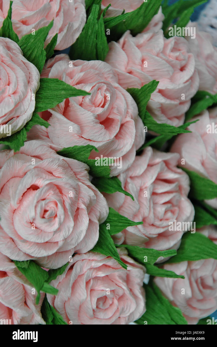 A close up photograph of handmade tissue paper rose bouquet stock a close up photograph of handmade tissue paper rose bouquet mightylinksfo