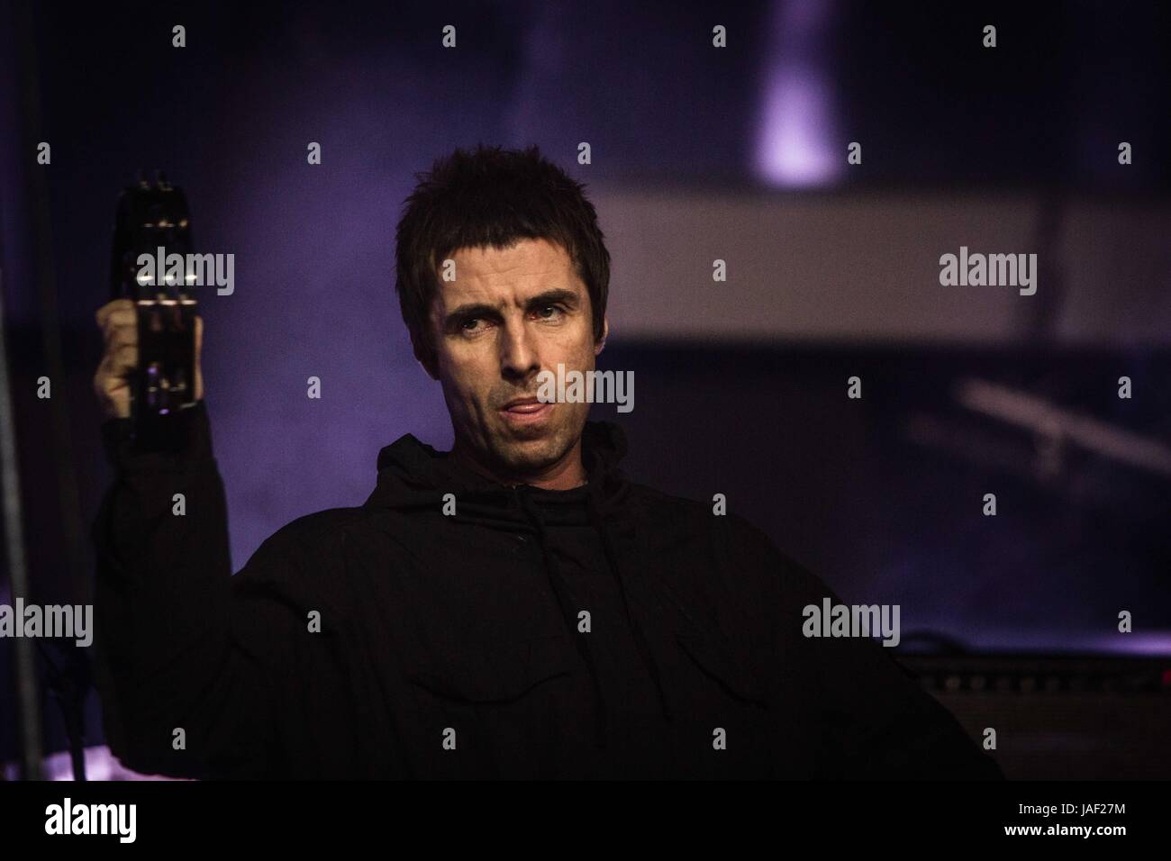 Landgraaf, Netherlands 5th june 2017 Liam Gallagher perform live at Pinkpop Festival 2017 © Roberto Finizio/ - Stock Image