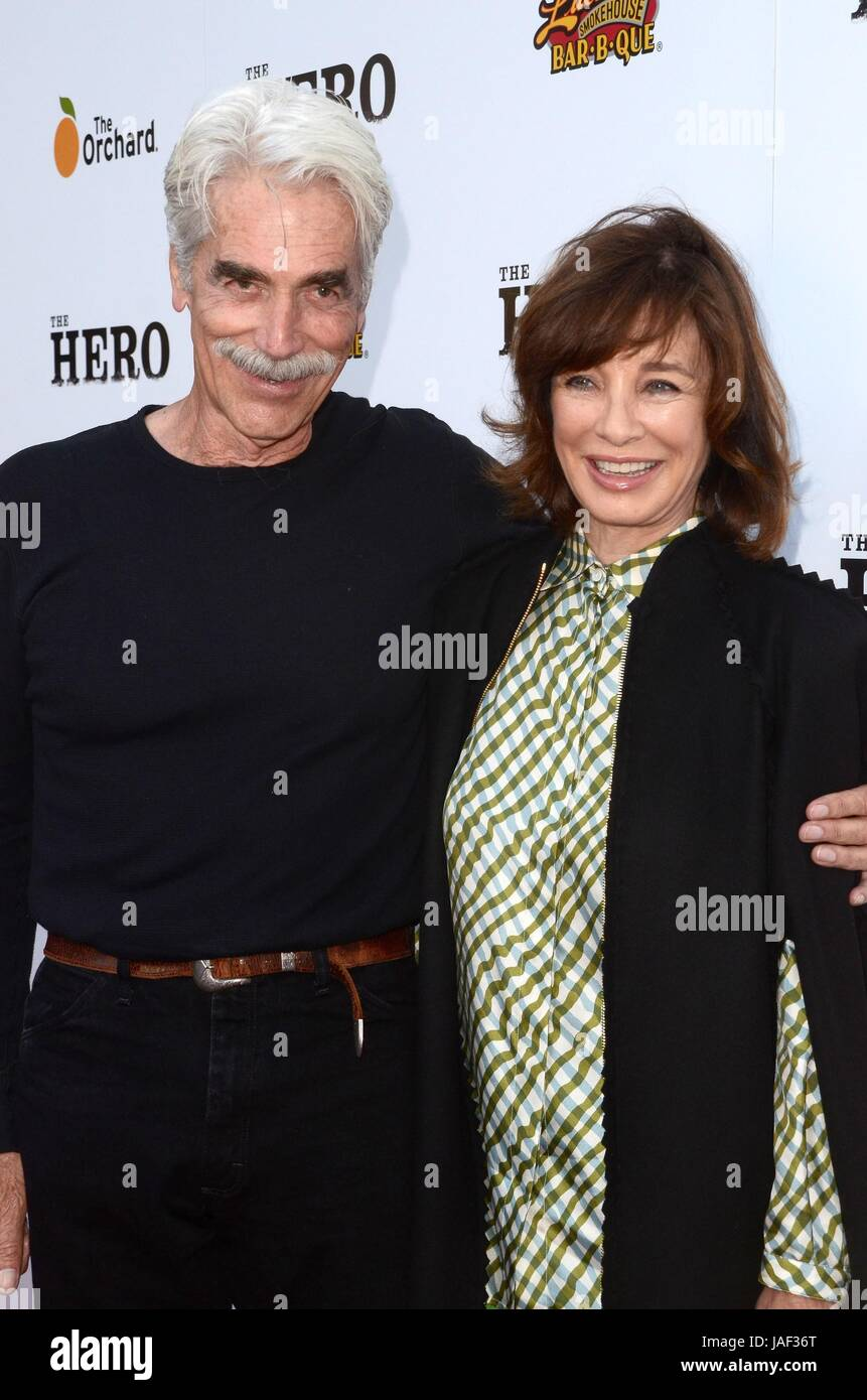 Los Angeles, California, USA. 5th June, 2017. Sam Elliott, Anne Archer at arrivals for THE HERO Premiere, Egyptian - Stock Image