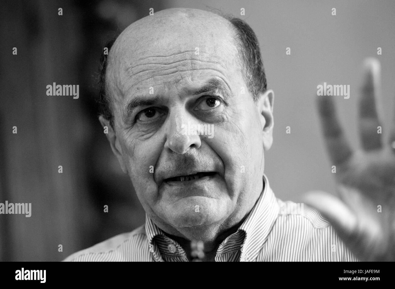 02 June 2017 Italy, Lombardy, Crema, Pier Luigi Bersani an Italian Politician - Stock Image