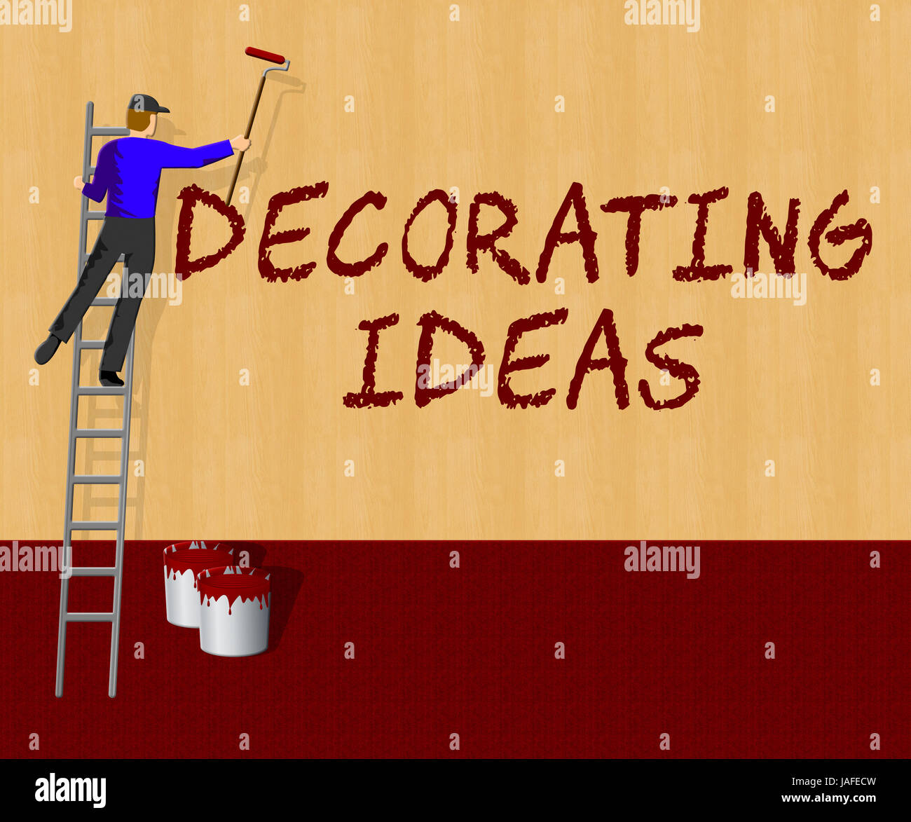 Decorating Ideas Showing Decoration Advice 3d Illustration