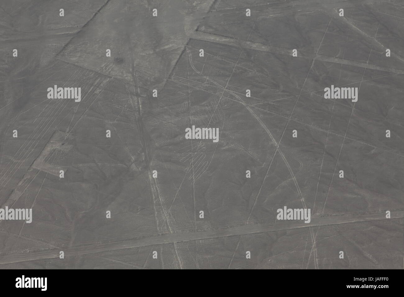 the nasca lines in peru Stock Photo