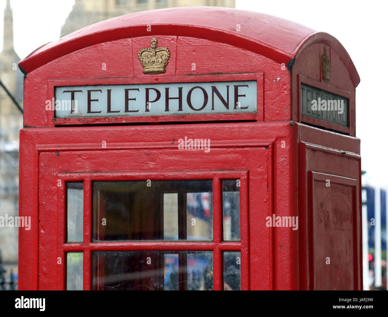 June 5, 2017 - A famous London Red Telephone box - Stock Image