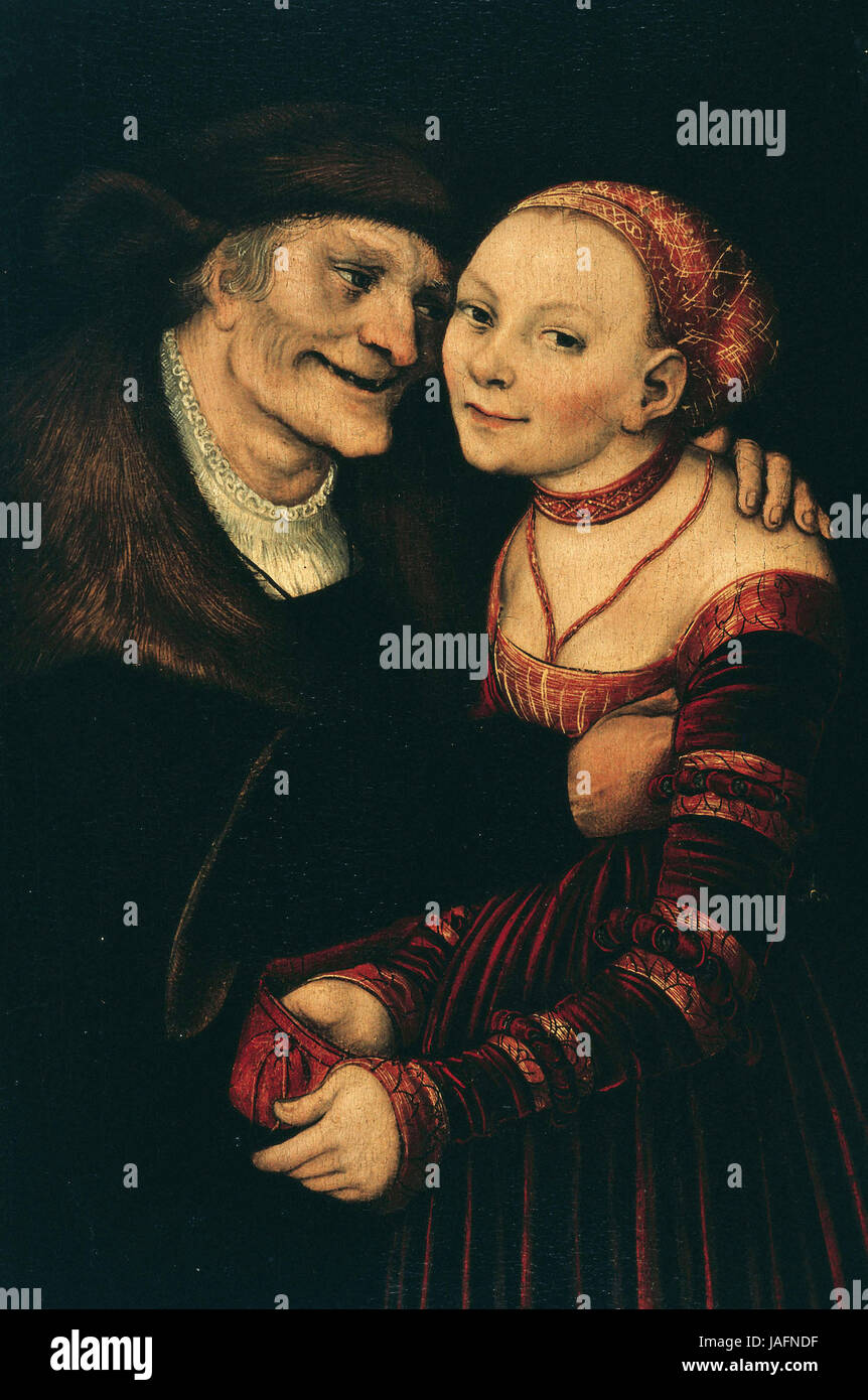 Lucas Cranach the Elder The Ill-Matched Couple - Stock Image