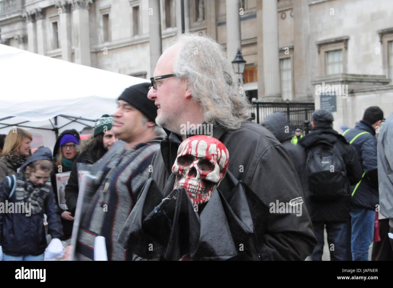 Anti-Margaret Thatcher Demonstration in London. - Stock Image