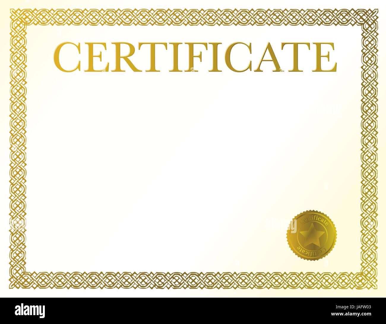 Vector Official Certificate Template Stock Photos Vector Official
