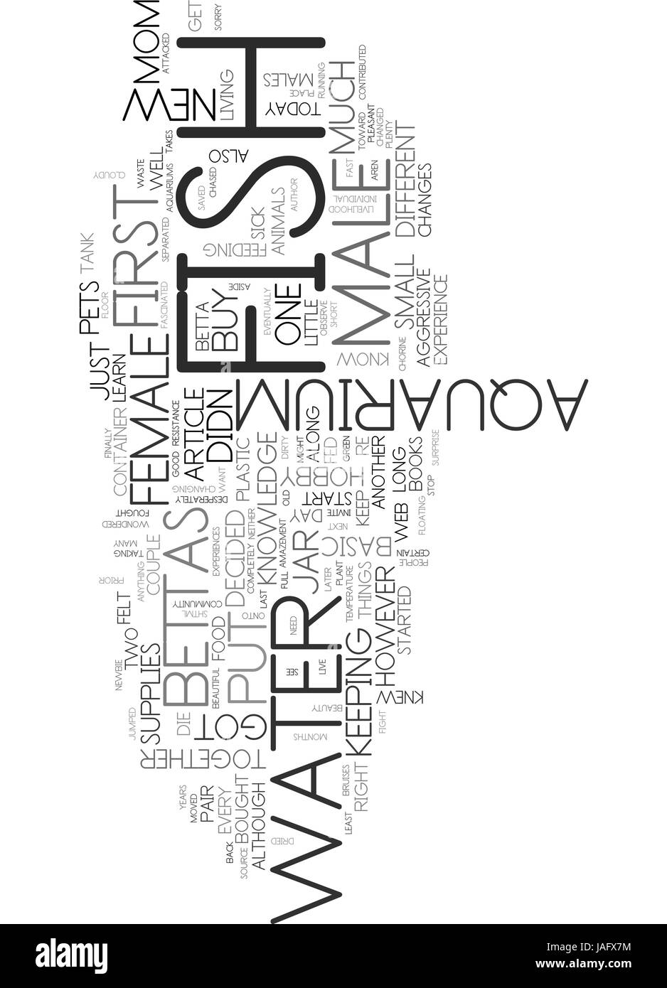AQUARIUM SCREENSAVER WHERE CAN YOU FIND IT TEXT WORD CLOUD CONCEPT - Stock Image
