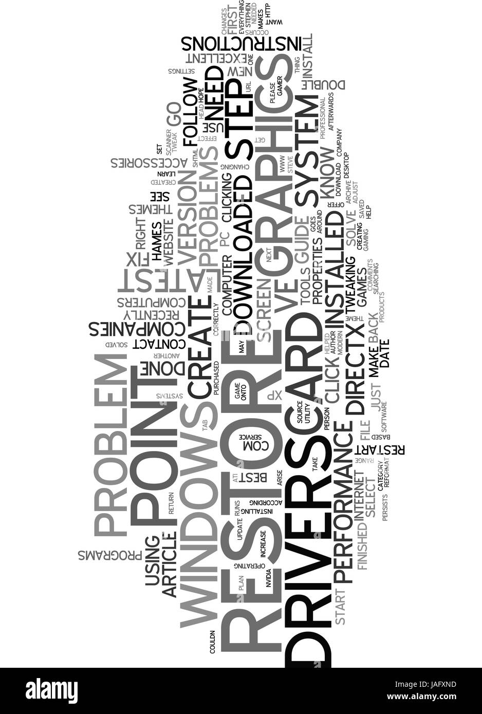 ARE YOU A PC GAMER AND WANT THE BEST OUT OF YOUR GRAPHICS CARD TEXT WORD CLOUD CONCEPT - Stock Vector