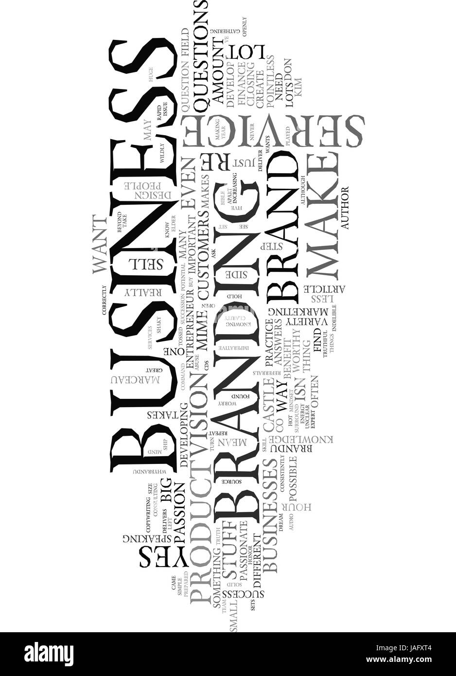 ARE YOU BRAND WORTHY TEXT WORD CLOUD CONCEPT - Stock Vector