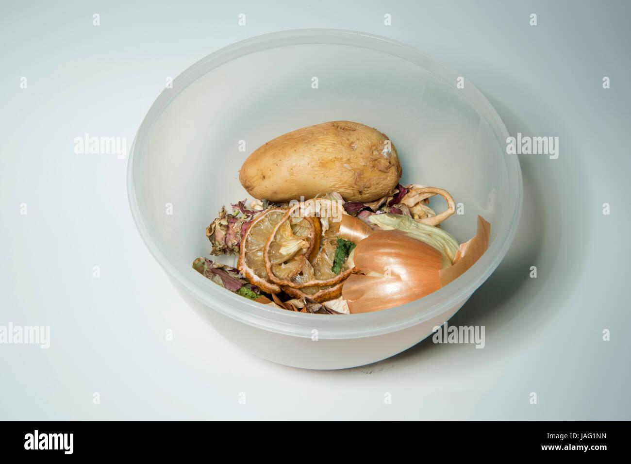 Verdorbenen Lebensmittel, Bio Abfall Stock Photo