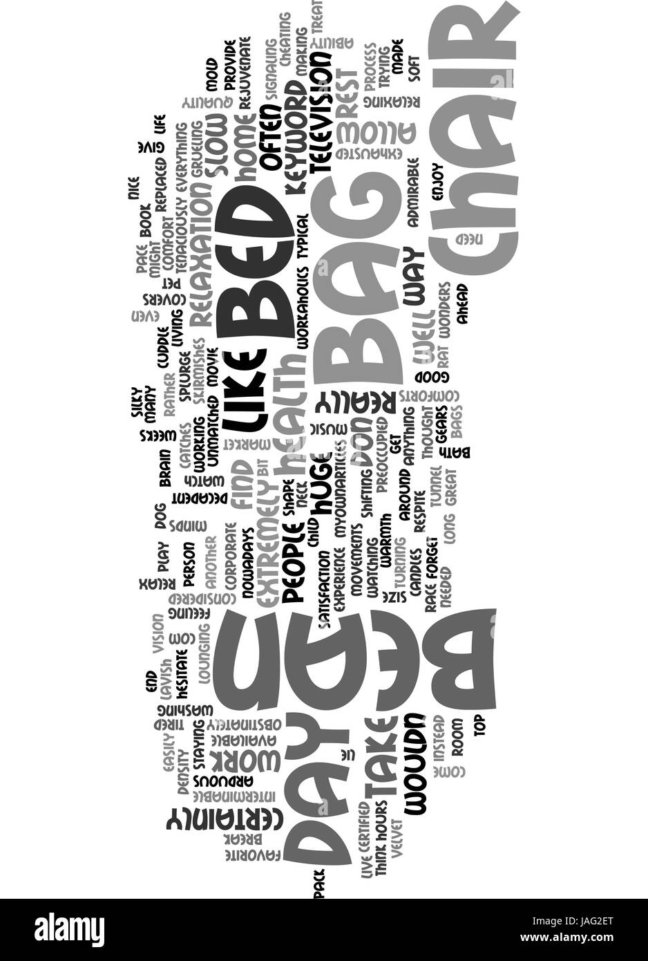 BEAN BAG CHAIR BED TEXT WORD CLOUD CONCEPT - Stock Vector