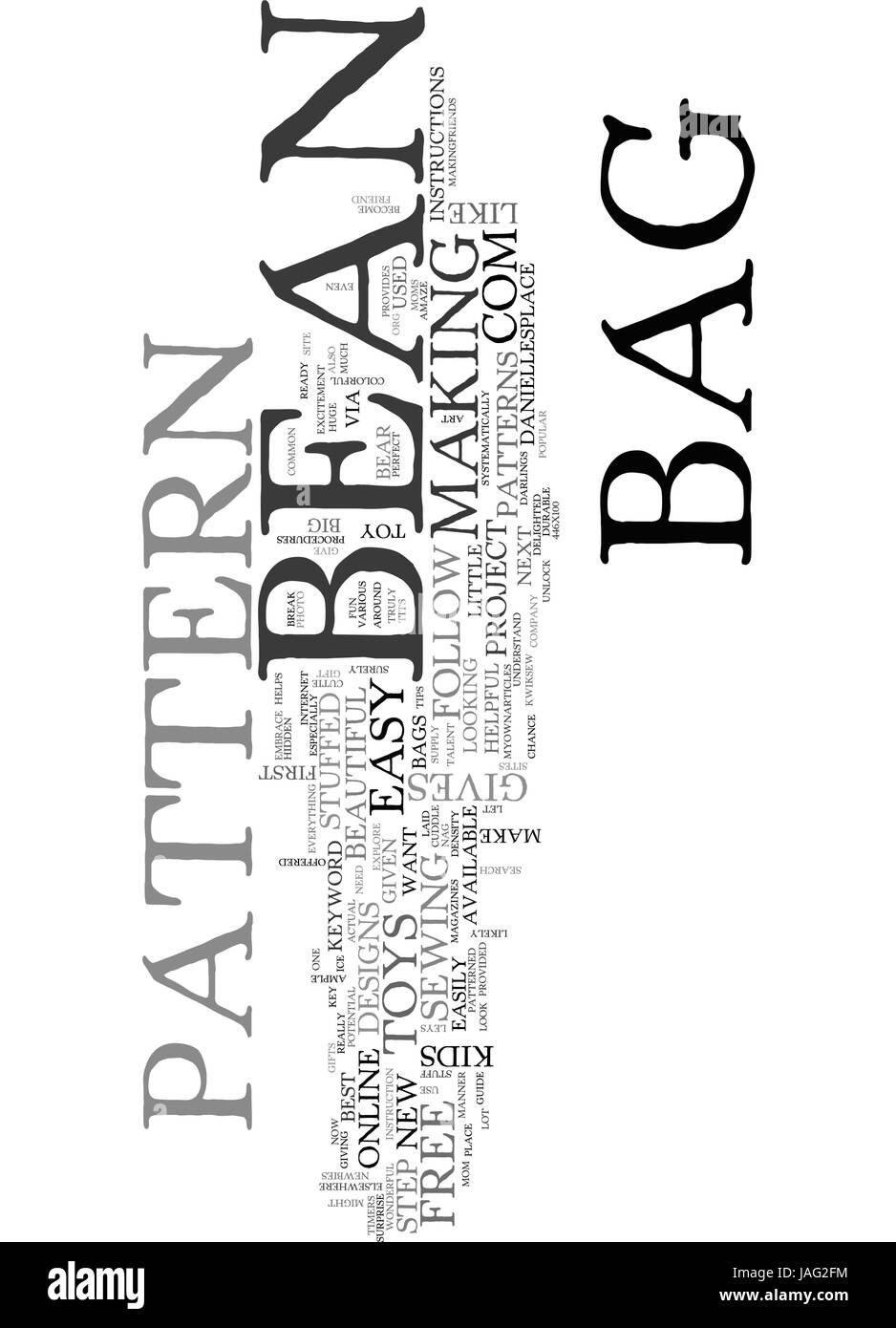 BEAN BAG PATTERN TEXT WORD CLOUD CONCEPT - Stock Image