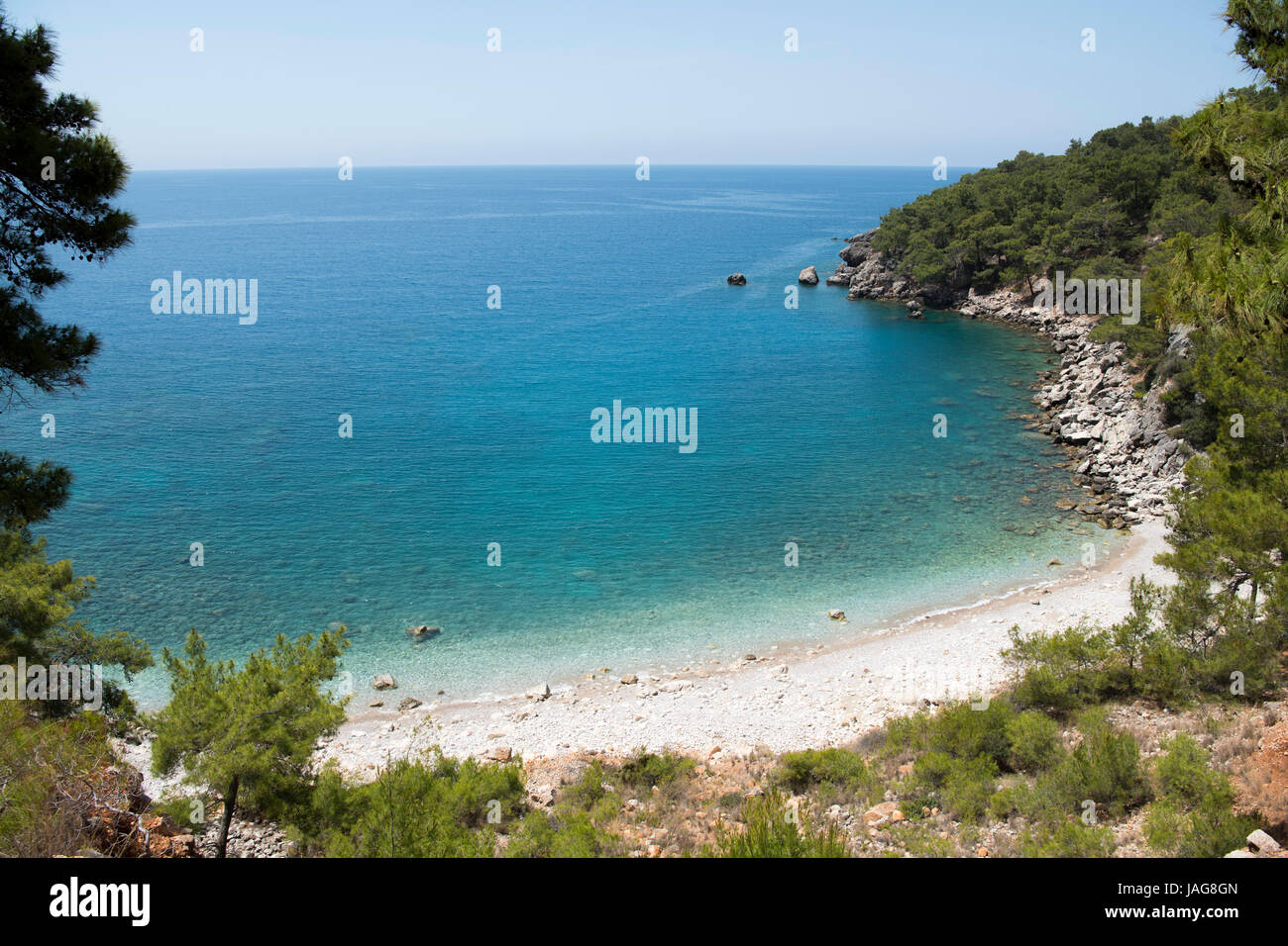 Asien, Türkei, Provinz Antalya, Küste bei Karaöz südlich von Kumluca - Stock Image