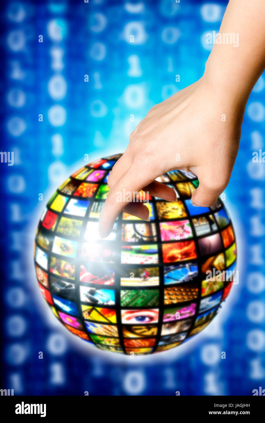 conceptual illustration for digital world and television - Stock Image