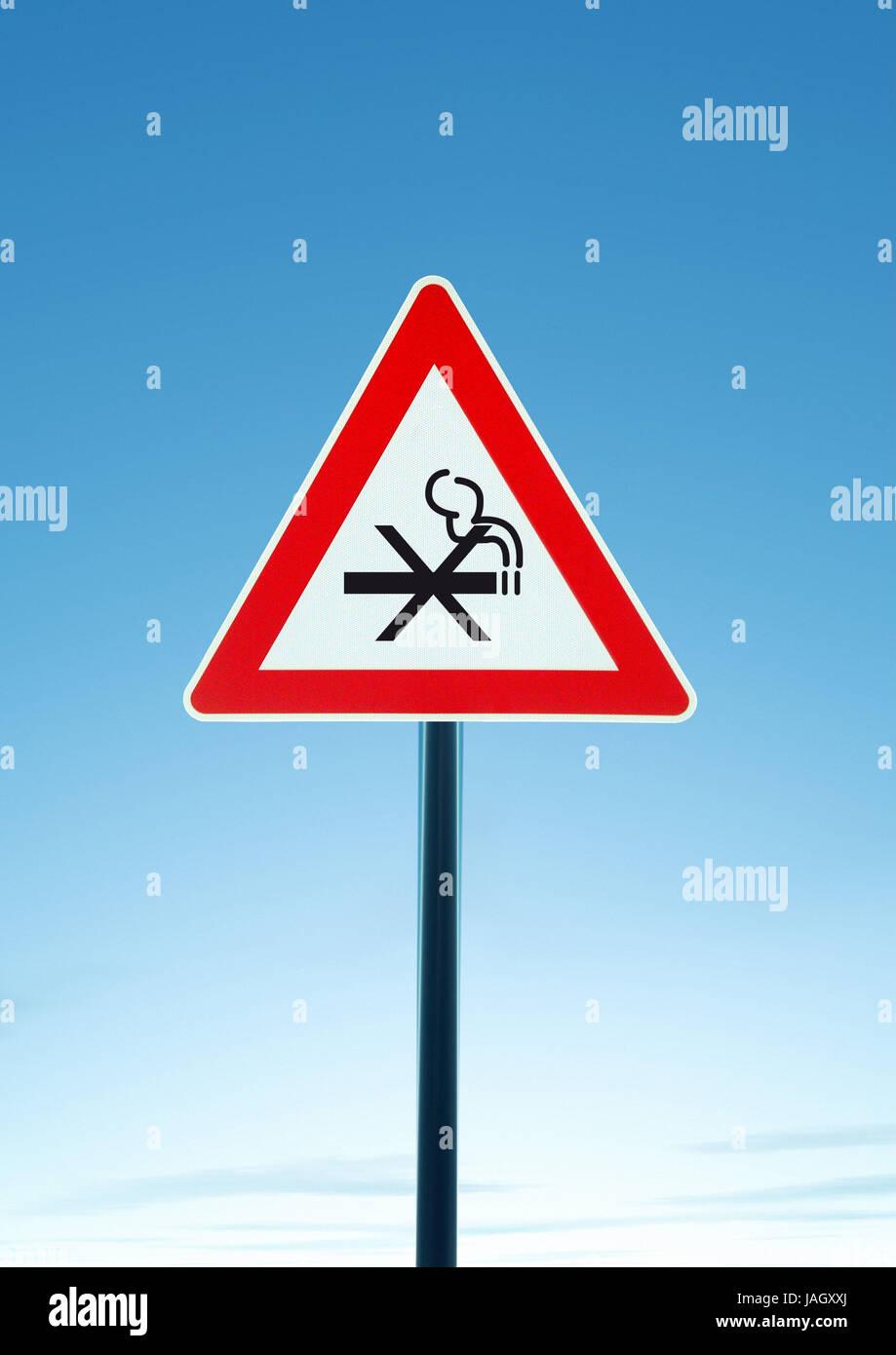 Sign,esteem non-smoker, - Stock Image
