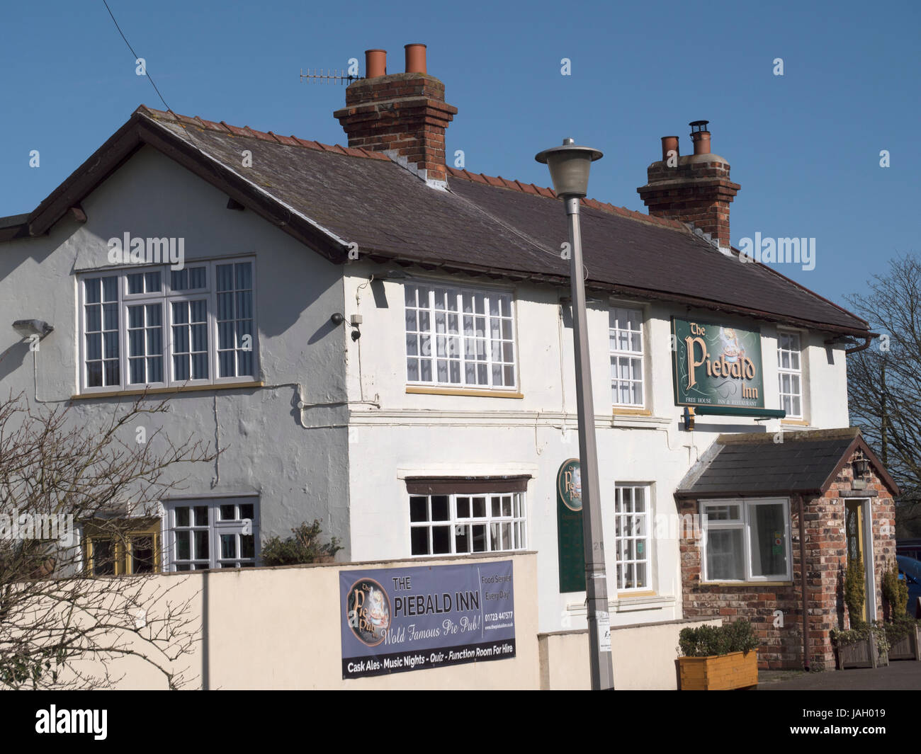 The Piebald Inn, Sands Lane, Hunmanby, Filey, Yorkshire, England, UK - Stock Image