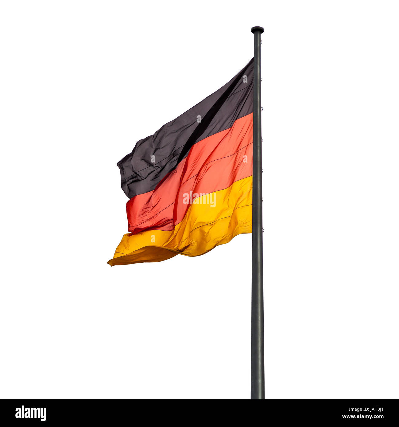 flagpole with state flag of Germany outdoors - Stock Image