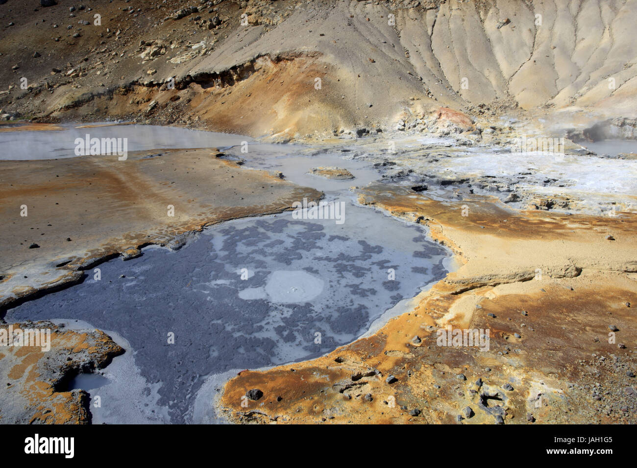 Europe,Northern Europe,Iceland,Südwestisland,Sudurnes peninsula,Reykjanesfolkvangur,hot sources, - Stock Image