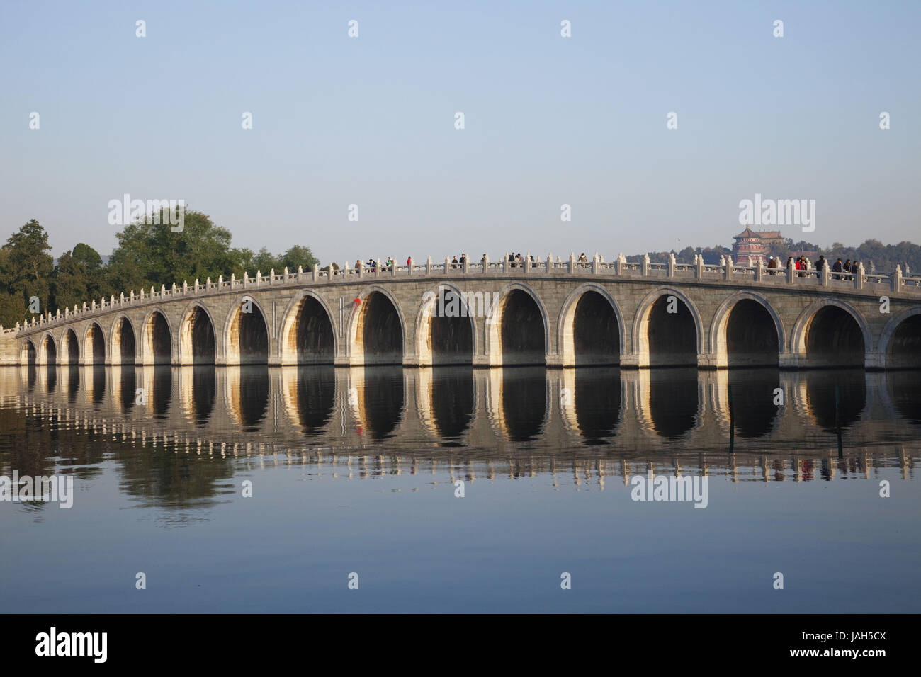 China,Peking,summer palace,seventeen-bow bridge, - Stock Image