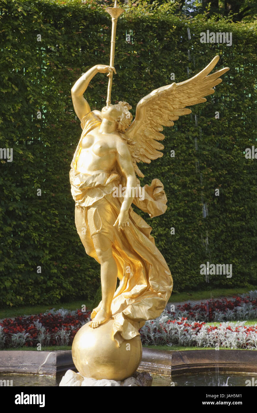 Germany,Bavaria,romantic street,lock gentle court,well character, - Stock Image