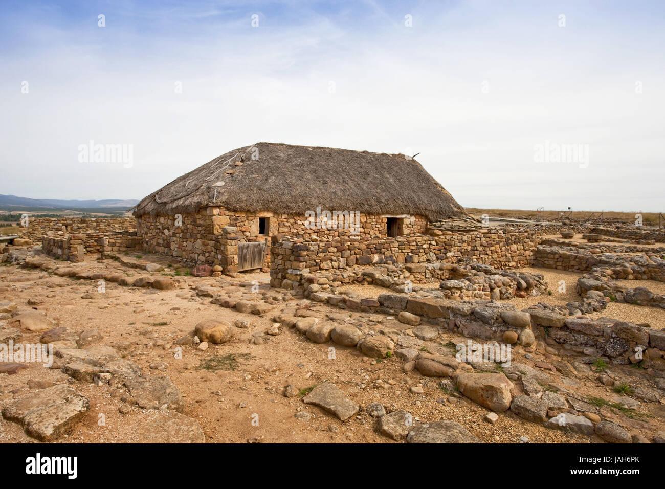 Spain,province of Soria,ruins of Numancia, - Stock Image
