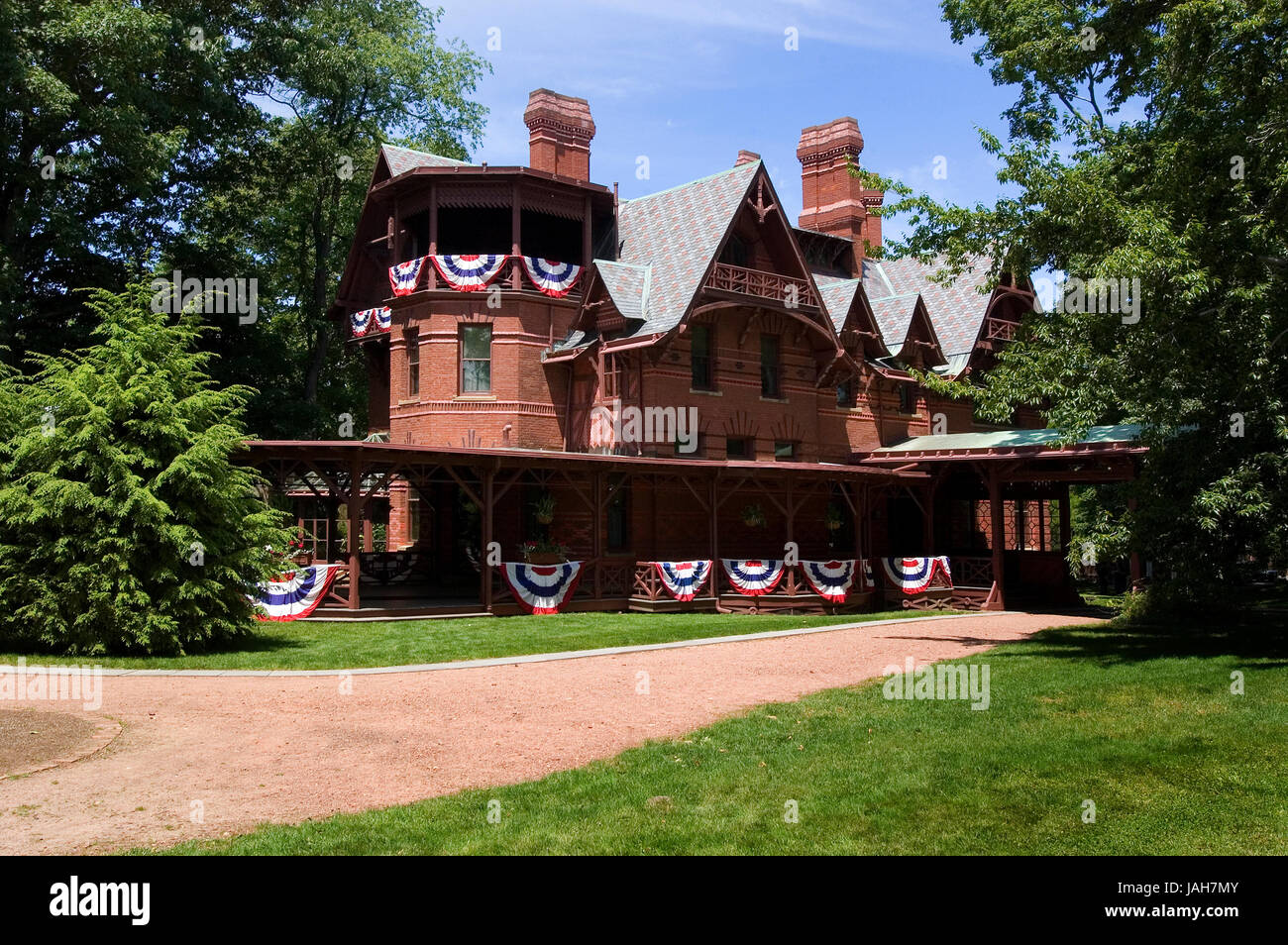 The Mark Twain house in Hartford, Connecticut, USA Stock Photo