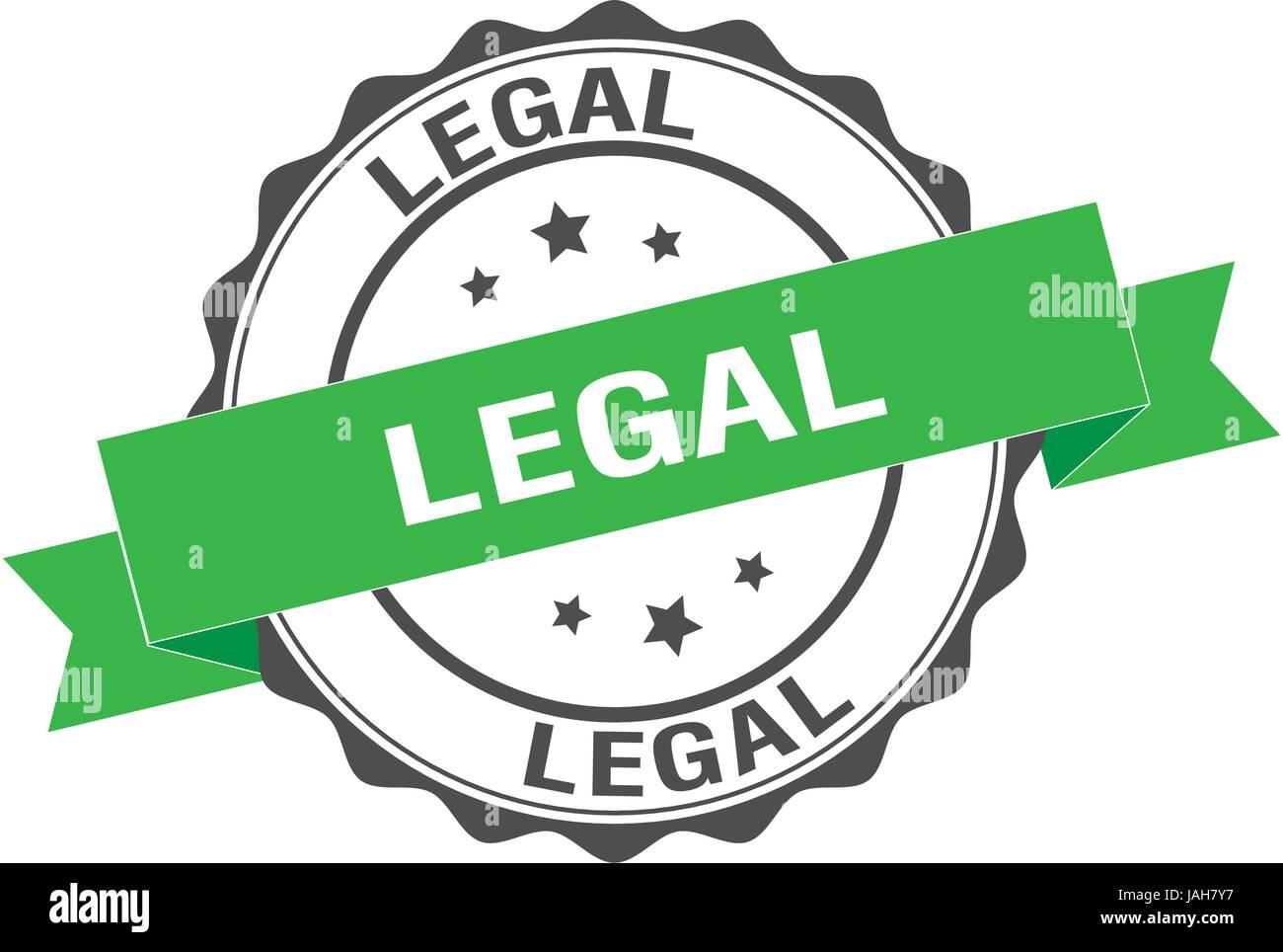 Legal stamp illustration - Stock Image