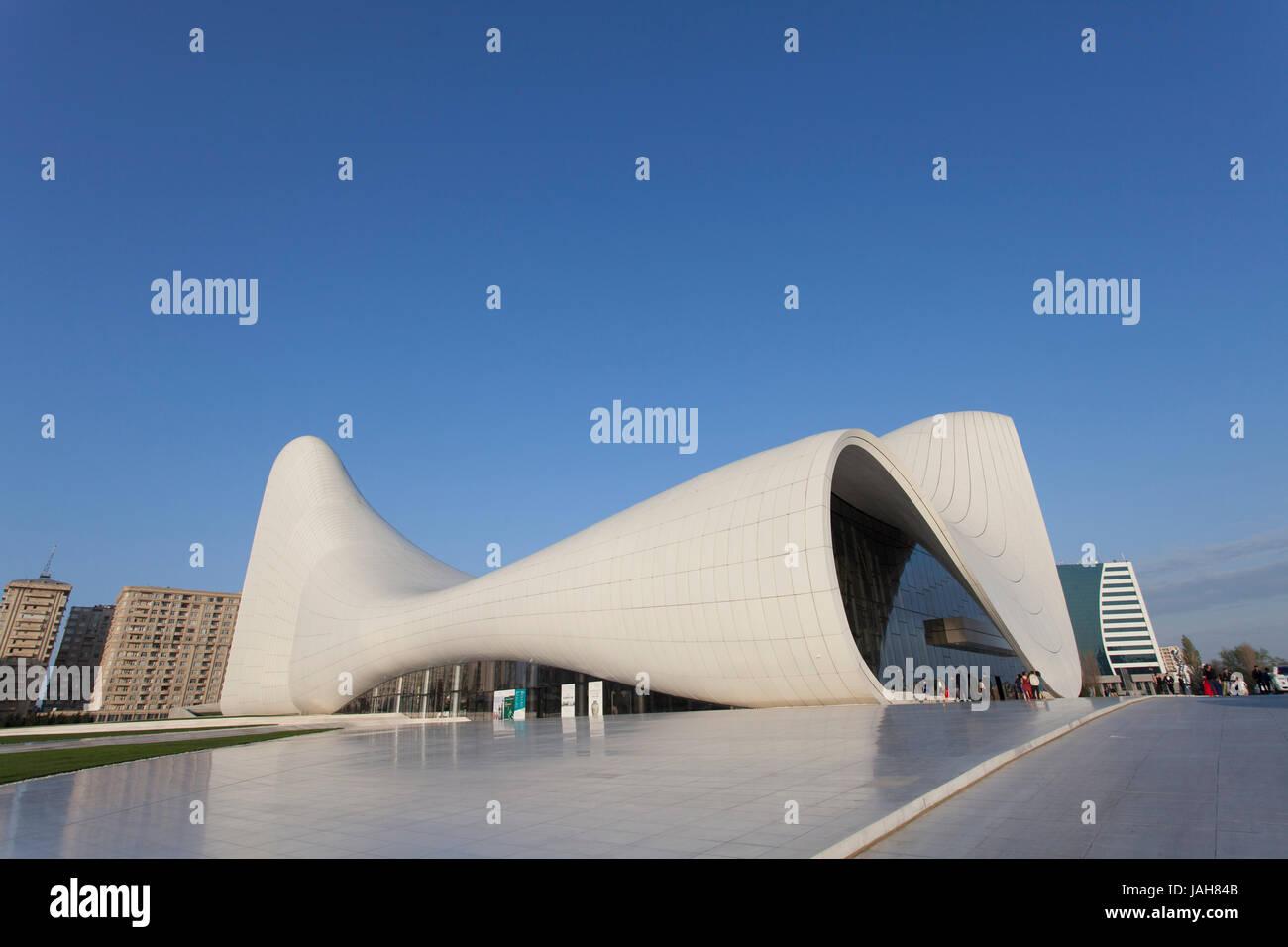 Zaha Hadid's Heydar Aliyev Museum, Baku, Azerbaijan - Stock Image