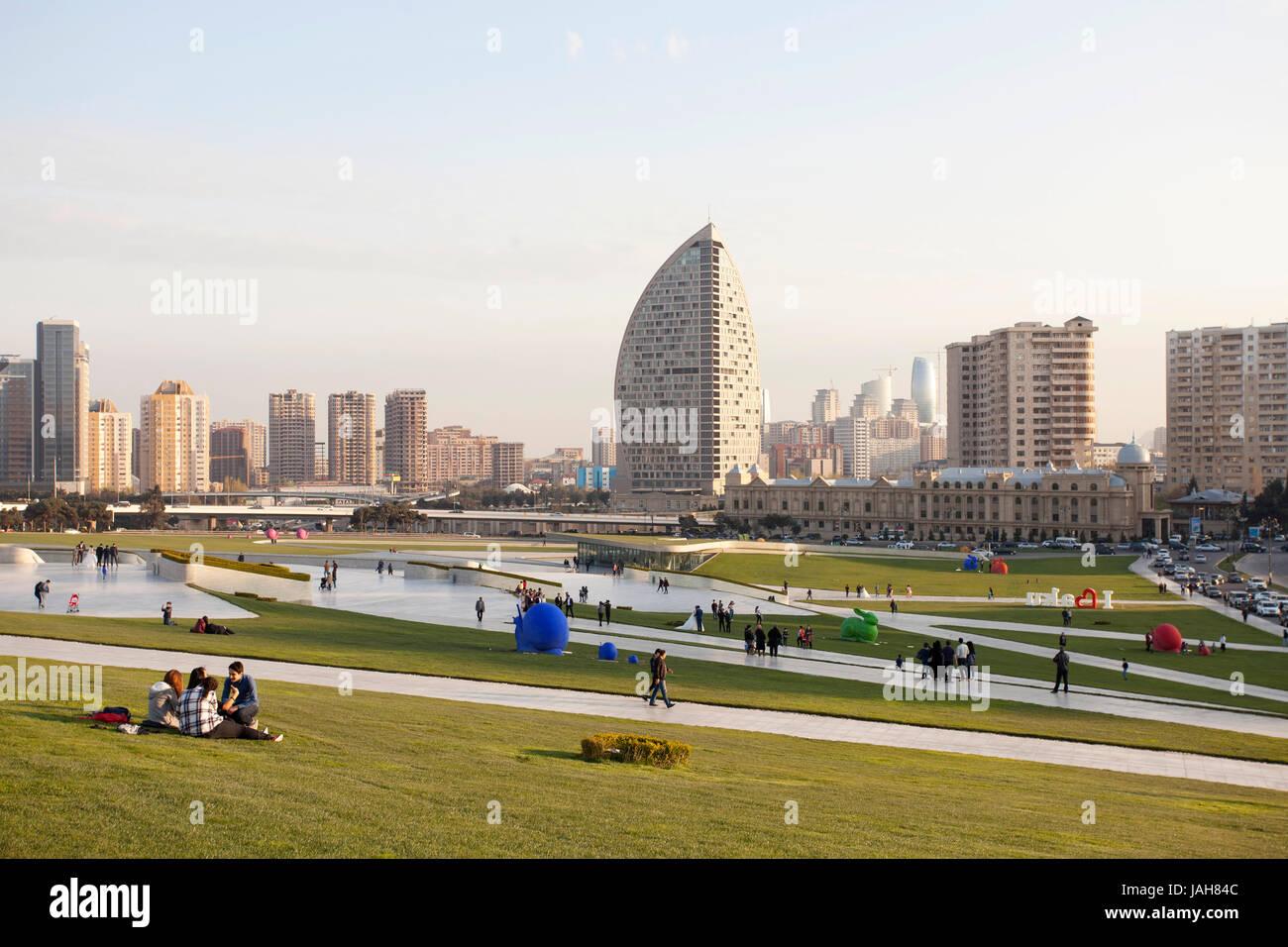 Cityscape, Baku, Azerbaijan Stock Photo