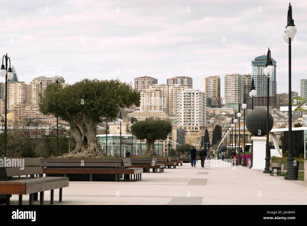 Fizuli Park, Baku, Azerbaijan - Stock Image