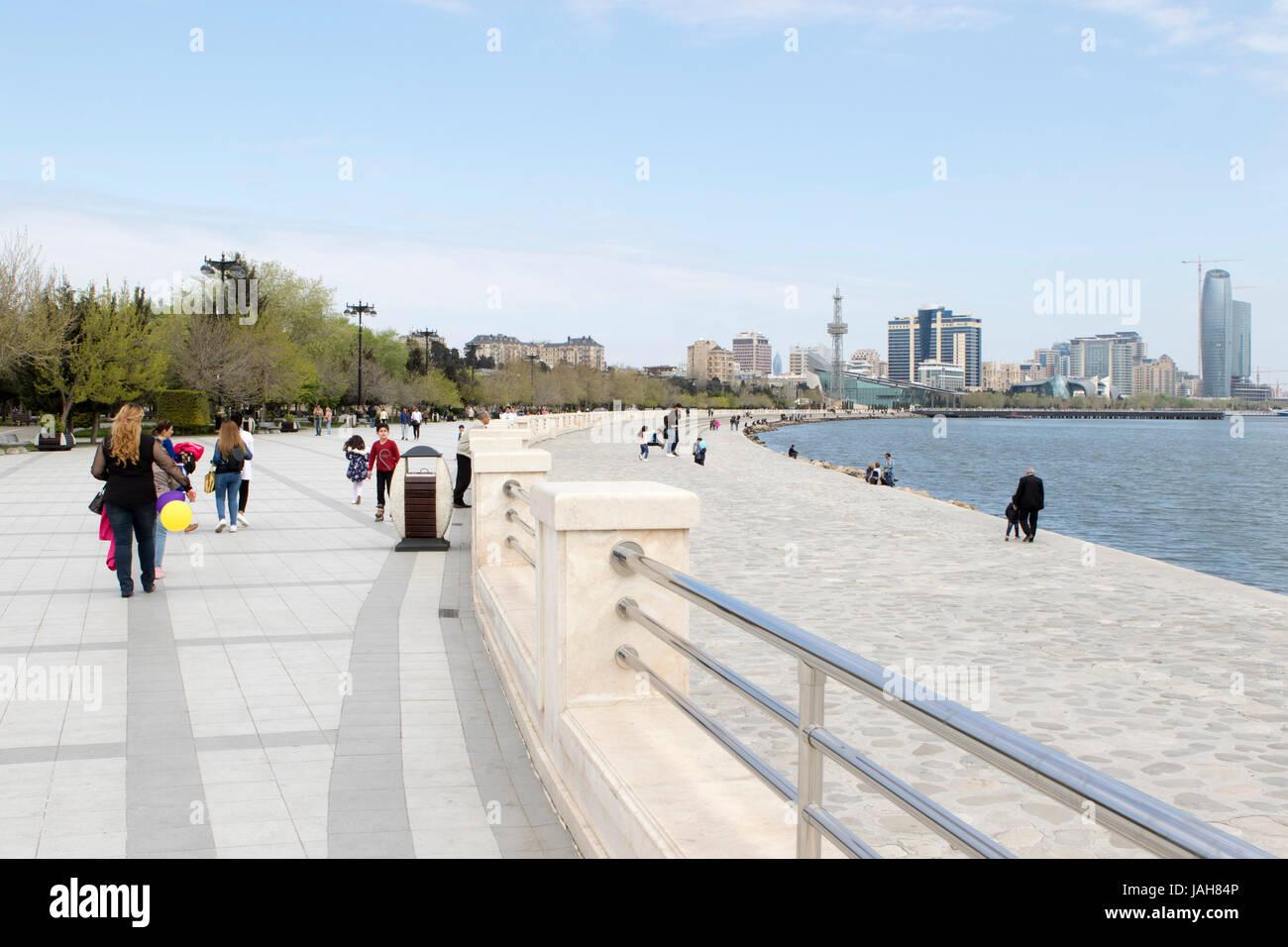Promenade Baku, Azerbaijan - Stock Image