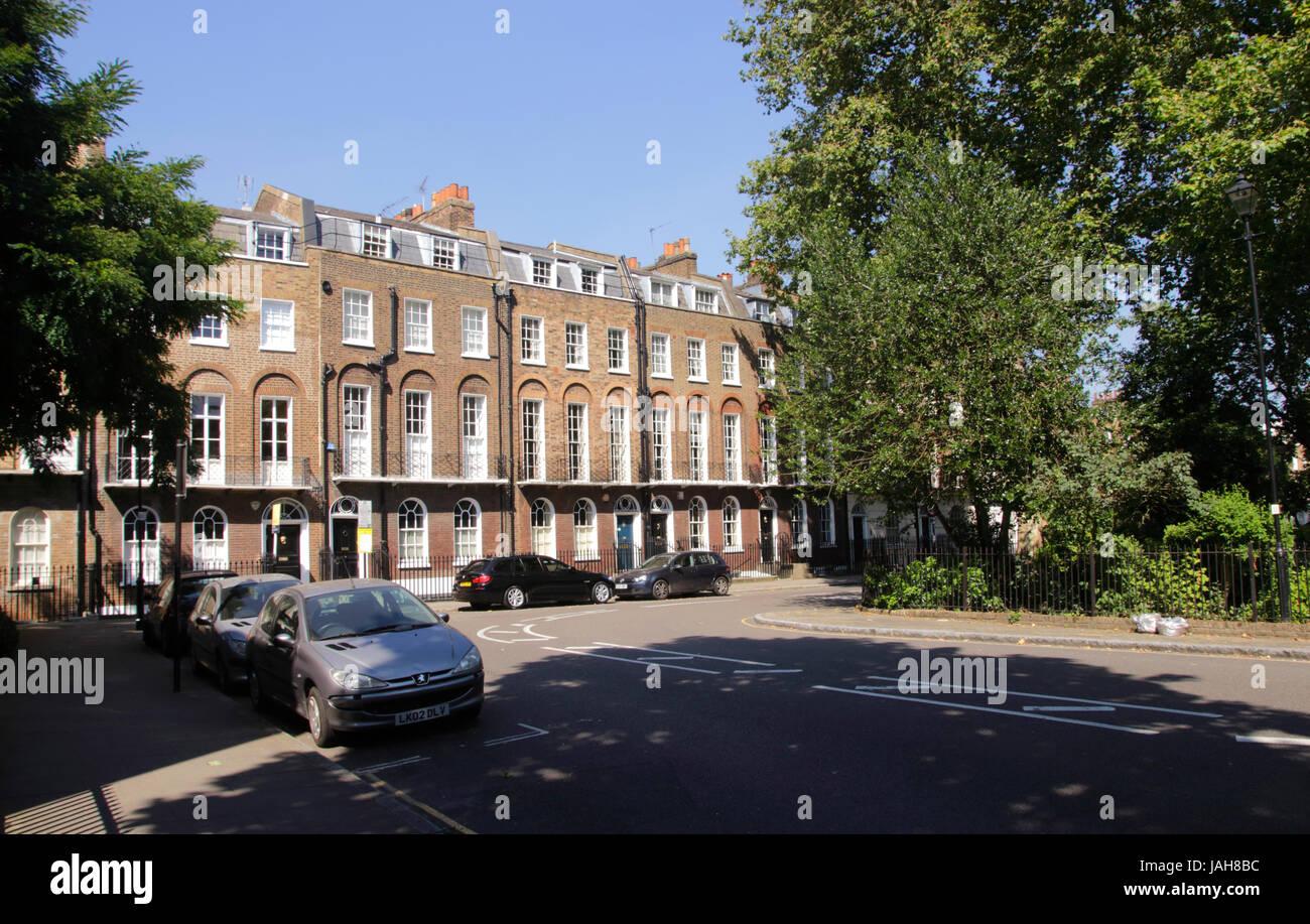 Canonbury Square Islington London Stock Photo