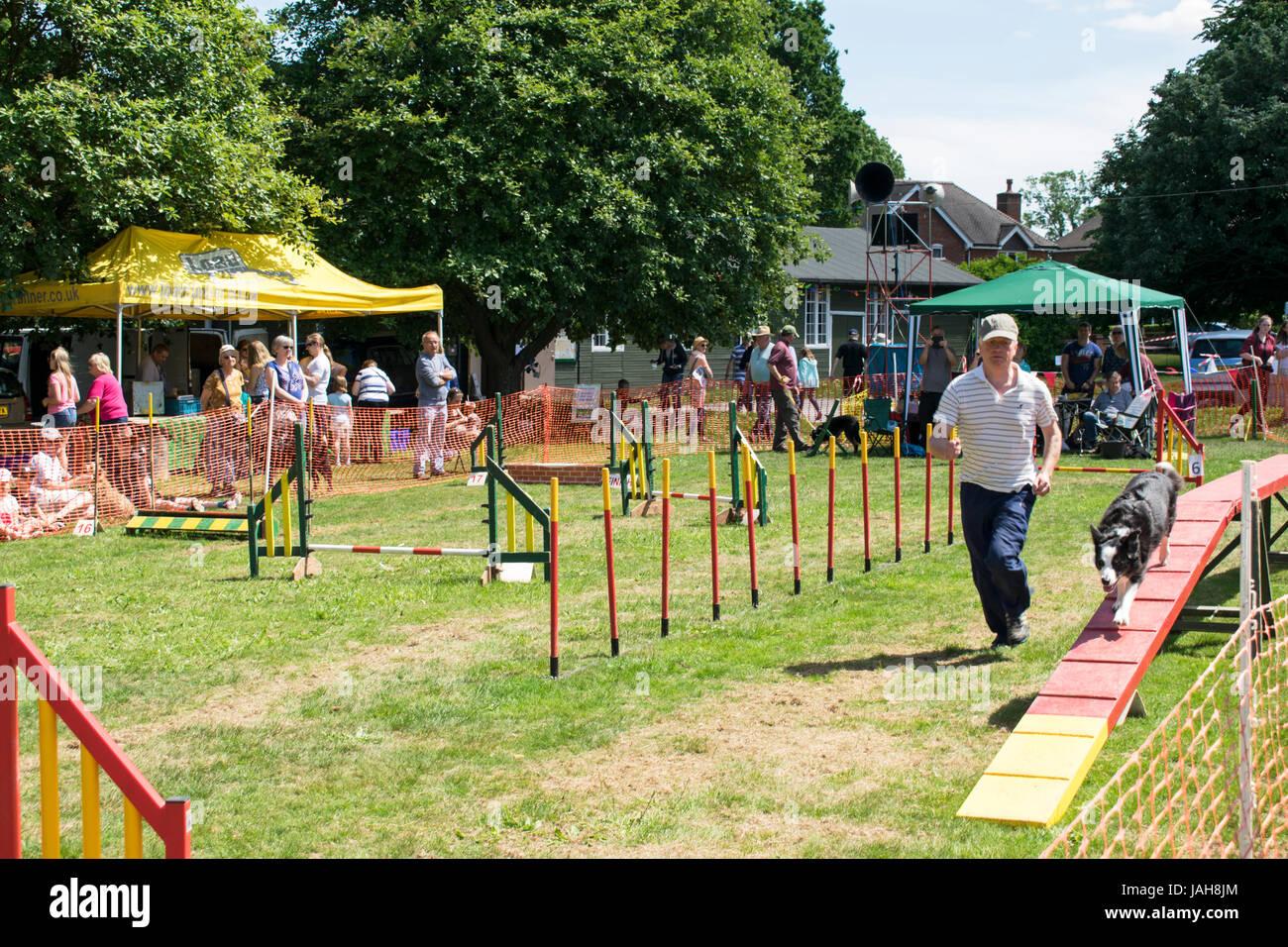 Ashley Green - Dog Agility Course - Chesham - Stock Image